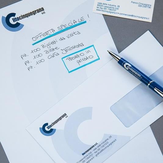 carta intestata buste e biglietti da visita lito cinquegrana