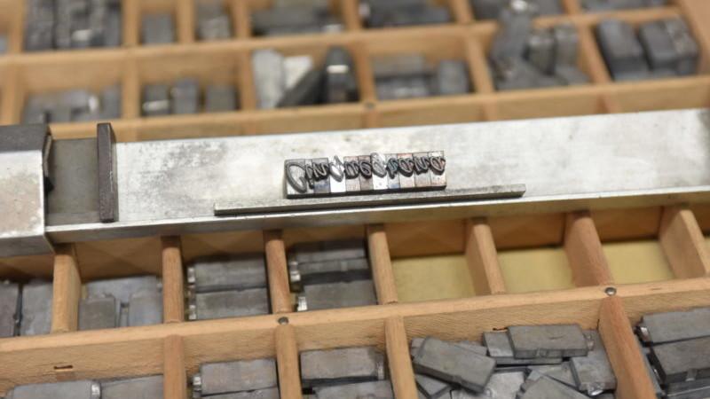 caratteri mobili della lito cinquegrana