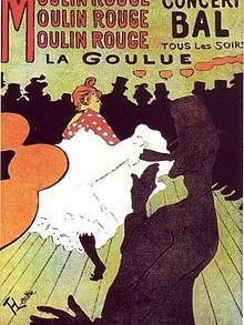 affiche parigino moulin rouge