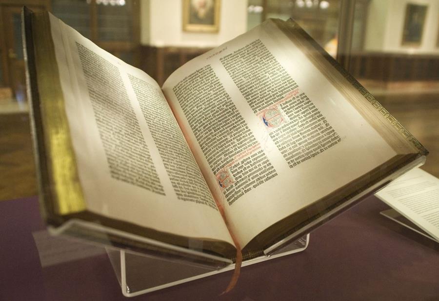 bibbia a quarantadue linee gutenberg magonza