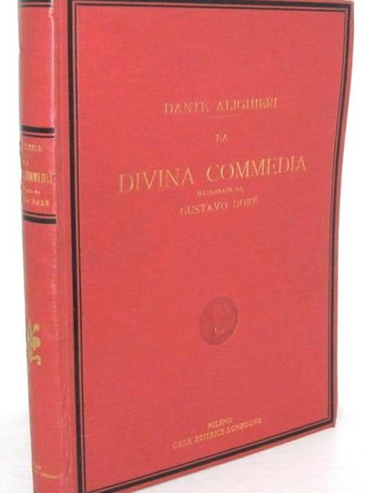 divina commedia di doré del 1943 tomo unico copertina rossa