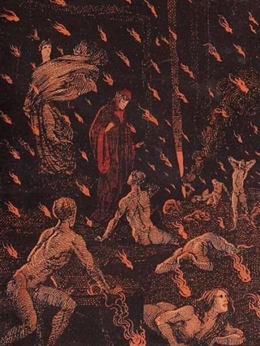 inferno dantesco di ezio anichini rosso e nero