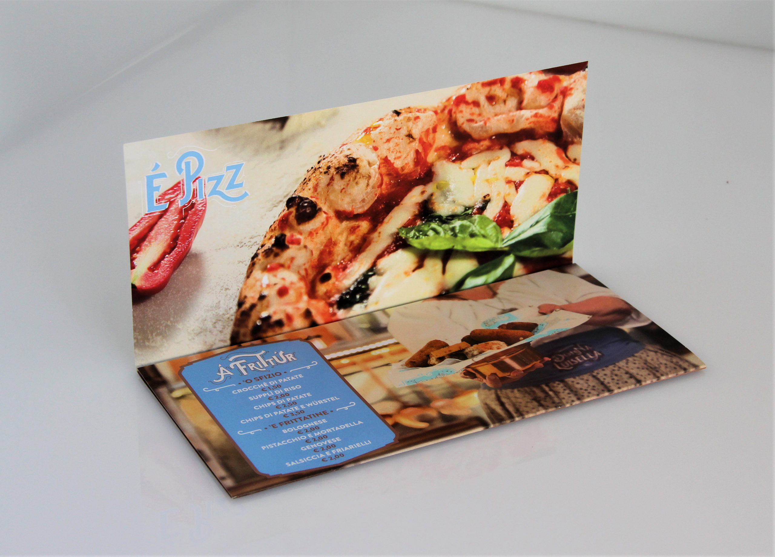 brochure due ante pizzeria donna luisella secondigliano