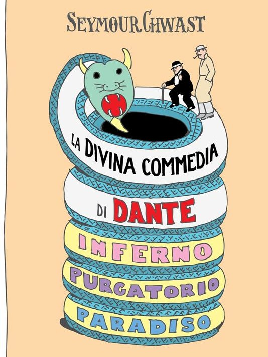 copertina illustrata della divina commedia di chwast