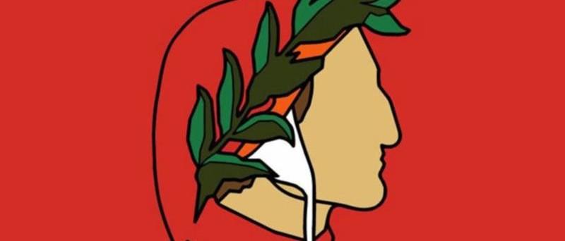 grafica dante alighieri di profilo per dantedì