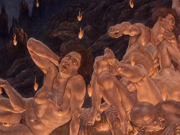 divina commedia di amos nattini donne nude