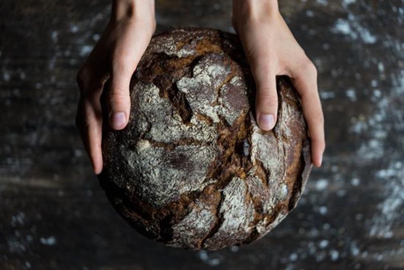 libri di ricetta pane tenuto con due mani