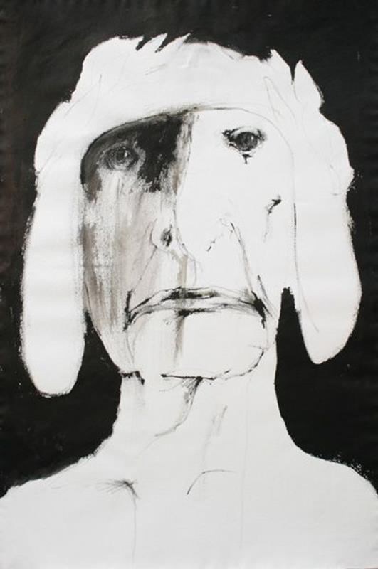 acquerello dante di Leonard Baskin in bianco e nero