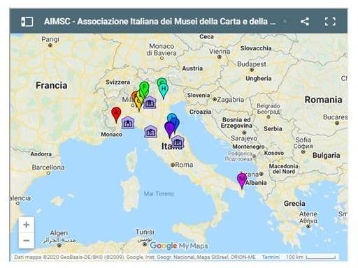 mappa musei aimsc