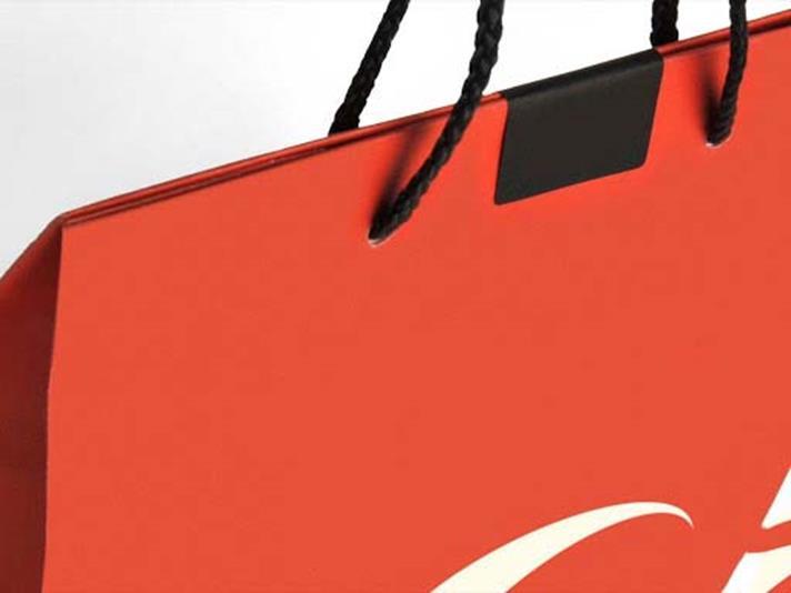 chiudibusta nero su shopper arancio