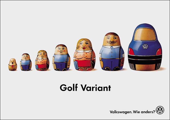 matriochkas pubblicità volkswagen