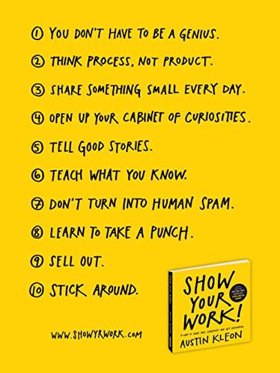 10 consigli per i graphic designer di Austin Kleon