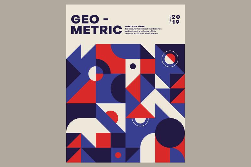 esempio di poster creato secondo lo stile geometrico