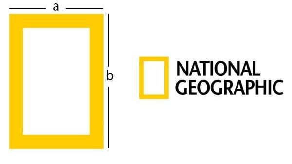 esempio di golden ratio per il logo di national geographic
