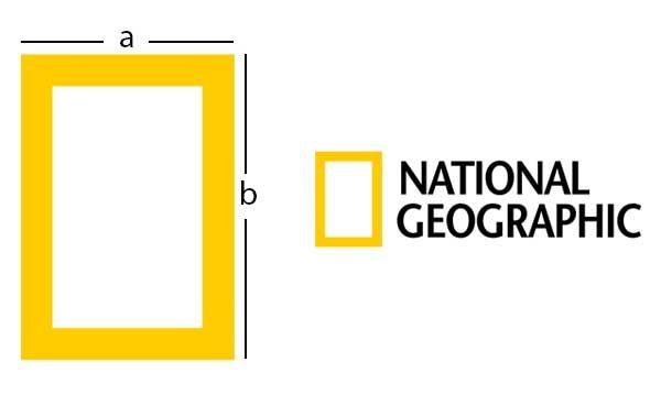 esempio di golden ratio per il logo di national geographic