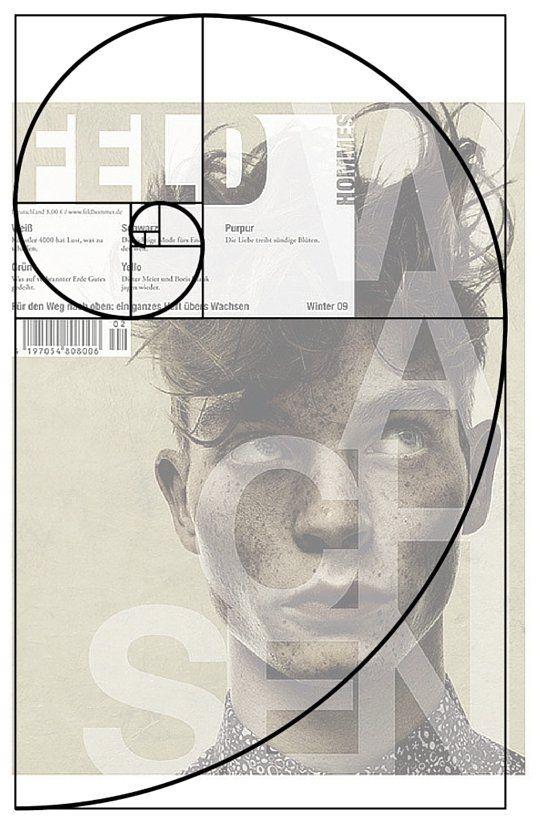 esempio di golden ratio applicato ad una locandina in bianco e nero con il primo piano di un ragazzo